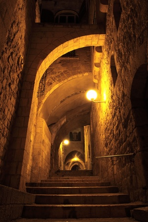 jewish home: Ancient Alley in Jewish Quarter, Jerusalem
