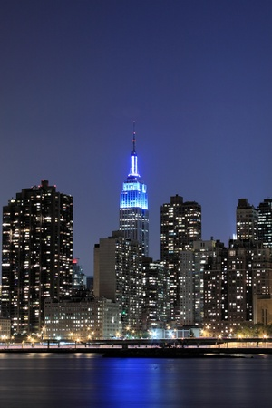 New York City skyline at Night Lights, Midtown Manhattan  Stock Photo - 9869391