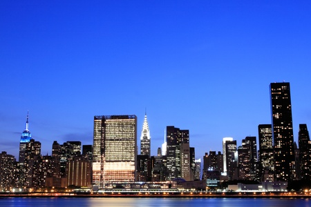 New York City skyline at Night Lights, Midtown Manhattan Stock Photo - 9869399