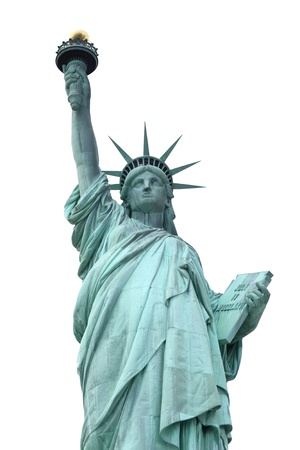 The Statue of Liberty isolated on white  Stock Photo - 9869400