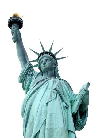 Demokratie: Die Statue of Liberty, isoliert auf weiss
