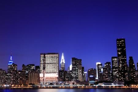 New York City skyline at Night Lights, Midtown Manhattan Stock Photo - 9869393