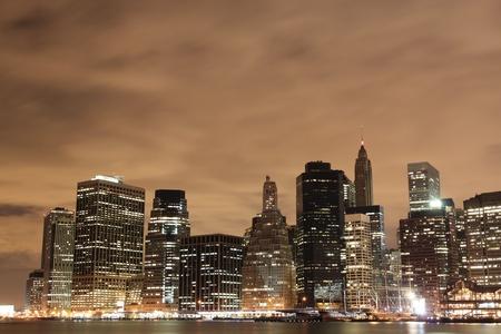 Manhattan Skyline At Night, New York City  Stock Photo - 10605420