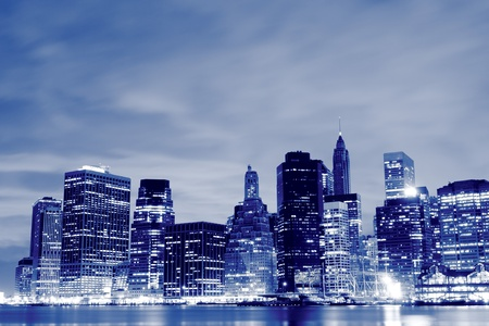 Manhattan Skyline At Night, New York City  Stock Photo - 10623509