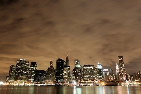 Manhattan Skyline At Night, New York City Stock Photo - 10623506