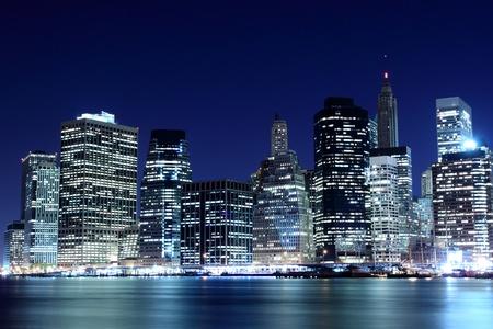 Lower Manhattan Skyline At Night, New York City  Stock Photo - 11250221