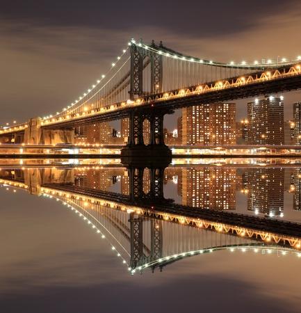 urban scenics: manhattan Bridge and Skyline At Night, New York City