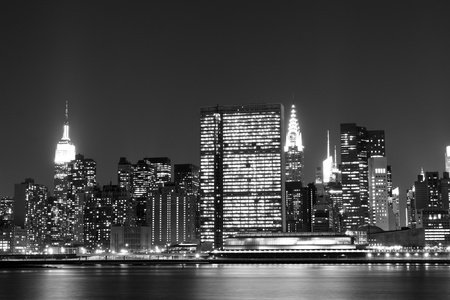 New York City skyline at Night Lights, Midtown Manhattan  Stock Photo - 13387341
