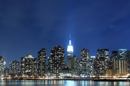 New York City skyline at Night Lights, Midtown Manhattan  Stock Photo - 13387342
