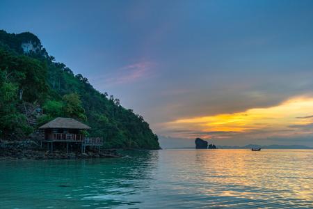 Sunset near Krabi, Thailand Imagens