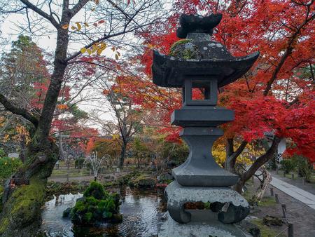 Autumn leaves in Komoro Japan