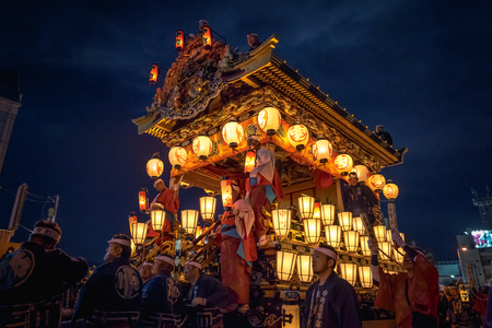 12-03-2107. The winter festival in Chichibu. One of Japan's three great float festivals. Saitama Prefecture