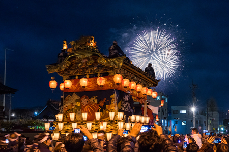12-03-2107. The winter festival in Chichibu. One of Japans three great float festivals. Saitama Prefecture
