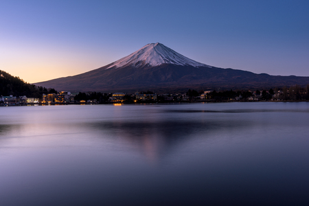 The sunrise on Mt Fuji and Lake Kawaguchiko. A UNESCO world heritage site in Japan - Yamanashi Prefecture. on Mt Fuji and Lake Kawaguchiko. A UNESCO world heritage site in Japan - Yamanashi Prefecture. on Mt Fuji and Lake Kawaguchiko. A UNESCO world heritage site in Japan - Yamanashi Prefecture.