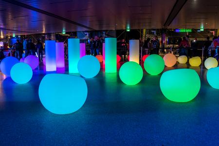Art installation during Vivid Sydney festival 에디토리얼