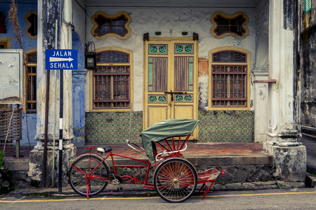 Old colonial building in Georgetown, Malaysia