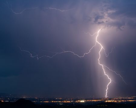 tucson: Lightning over northwest Tucson