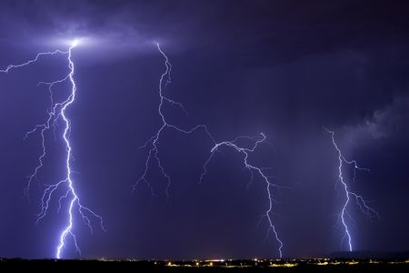 catalina: Active temporale su Catalina Arizona.