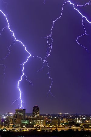 Lightning display over downtown Tucson photo