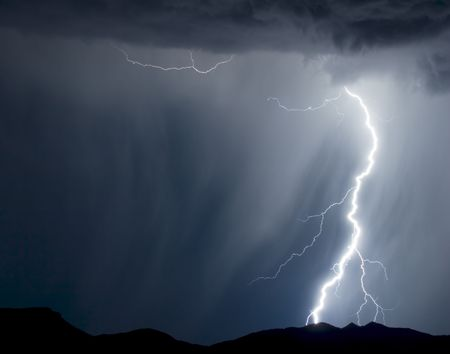 Rain and lightning Stock Photo - 2856764