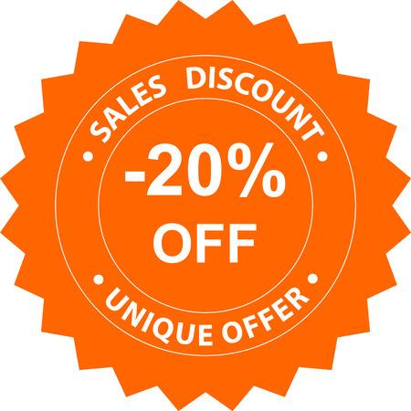 twenty: sales discount twenty percent off unique offer orange