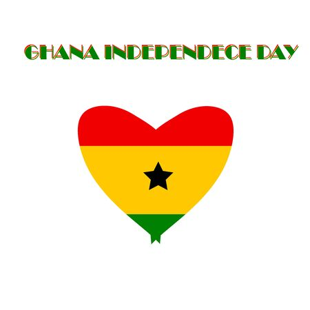 Republic of Ghana Independence Day Vector Template Design Illustration. Concept of Ghana Independence day. Template for background, banner, card, poster with text inscription. 6 December Illustration