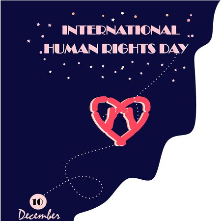 International Human Rights Day poster grunge texture, vector Illustration.Suitable for greeting card, poster and banner. Vector illustration of a Banner for International Human Rights Day Background.