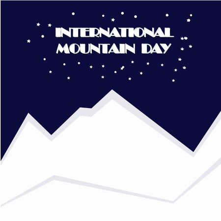 Holiday International Mountain Day Vector Illustration. Suitable for creative greeting card, poster and banner for web design. Cartoon Calendar for each day on December 11. Flat illustration top view