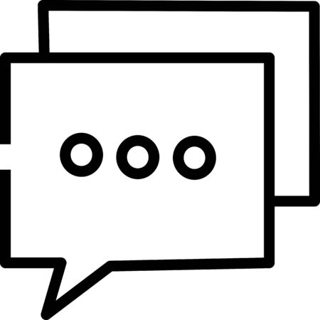 Chat Icon in trendy flat style isolated on grey background. Speech bubble symbol for your web site design, logo, app, UI.