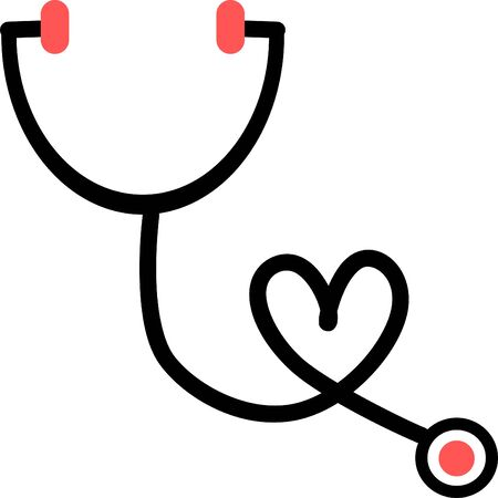 Stethoscope icon in trendy flat style. Stethoscope icon page symbol for your web site design Stethoscope icon logo, app, UI.