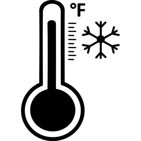 Celsius or fahrenheit meteorology thermometers measuring heat and cold, vector illustration. Thermometer equipment showing hot or cold weather. Medicine thermometer in flat style. Hot or cold