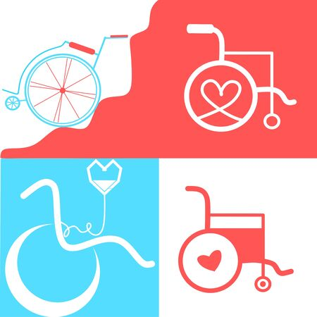 Set of Wheelchair. Vector wheelchair icon. Attractive and Beautifully or Faithfully Designed Wheelchair Icon. Wheelchair, handicapped or accessibility parking or access sign flat for apps and print