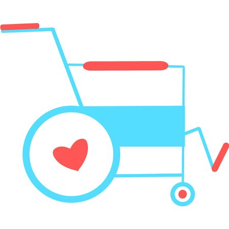 Wheelchair flat icon. Vector wheelchair icon. Attractive and Beautifully or Faithfully Designed Wheelchair Icon. Wheelchair, handicapped or accessibility parking or access sign flat for apps and print