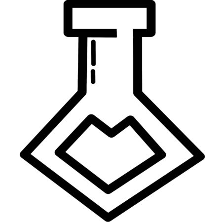 Set of Chemical test tube pictogram icon. Laboratory glassware or beaker equipment. Experiment flasks. Trendy modern vector. Simple flat illustration. Glass chemical, laboratory flasks for science lab Ilustração