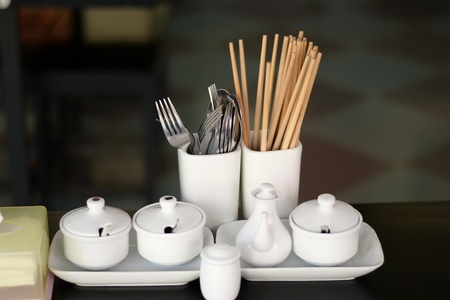 kitchen untensils inside  chinese restaurant Stock Photo - 11918131