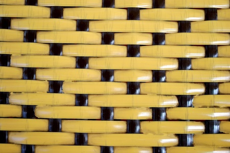 r furniture: shiny basket texture in black and yellow color