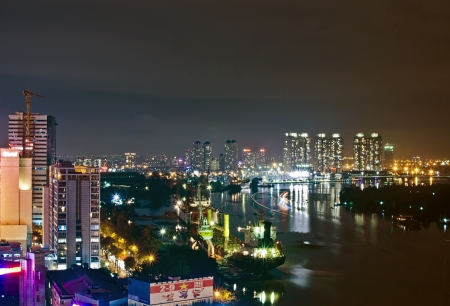 one of the famous river in vietnam- Saigon river