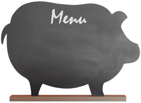Vintage Nero Message Board Lavagna per la cucina e Menu Resturant o note, con percorso di clipping isolato su sfondo bianco