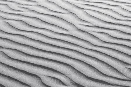 Rippled White Beach Sand Dune Texture Background Banco de Imagens