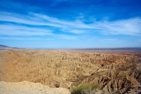 Badlands In The Anza-Borrego Desert ~ Fonts Point In The United States Noted For Its Erosional Landscapes