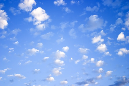 Blue Sky ~ White Clouds Stock Photo
