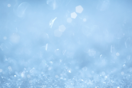 Cool Sparkling Ice Crystal Christmas Background ~ Frozen Aqua Robins Egg Blue and White Frosty Snow Flakes  Stock Photo