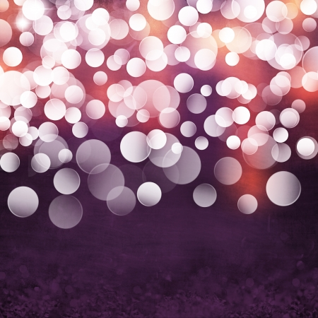 Elegant Grunge Purple, Gold, Pink Christmas Light Bokeh   Vintage Ice Crystal Background Texture photo