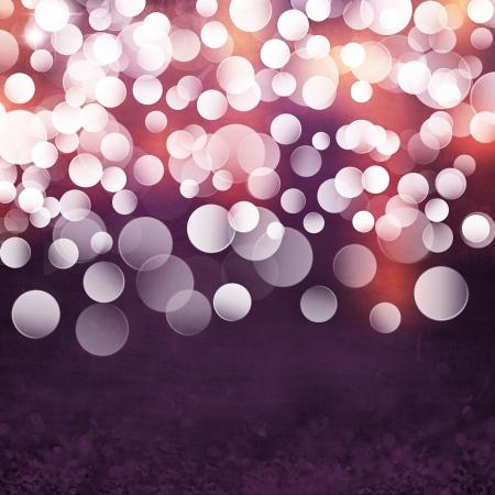 Elegante Grunge viola, oro, rosa Christmas Light Bokeh Vintage Ice Texture Cristallo Background