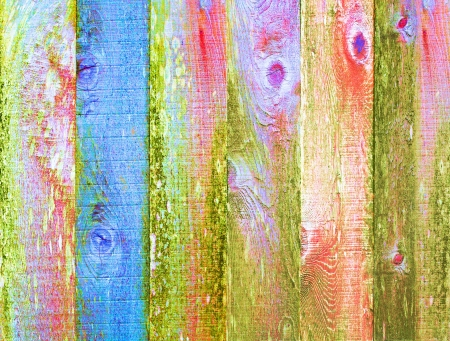 Distressed Vintage Grunge Wood Texture Background Art Design Element Multicolor Psychedelic Pastel Color Pallet  Archivio Fotografico