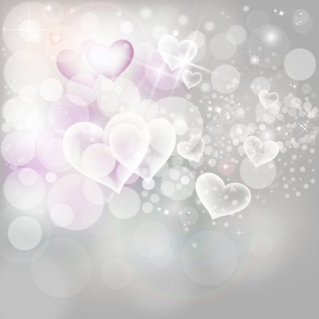 Silver Lights And Stars On Grey Background Abstract Christmas Background Wth Glowing White And Pink Snow EPS 10
