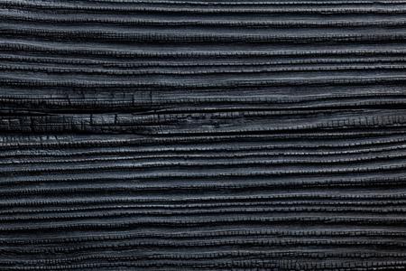 techniek: Black Burned Verkoold Hout, Cedar Of Pine House Siding achtergrond, Japanse Yakisug Shou Sugi Ban Fire Wood Preservation techniek die brengt de nerf van het hout en beschermt tegen Insecten Rotting Stockfoto