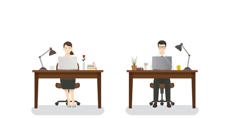office man and woman