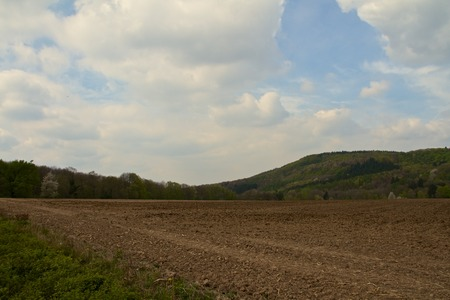 a big brown uncultivated field