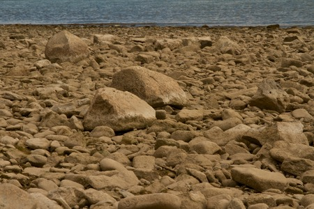 river bed: dried up river bed in summer Stock Photo